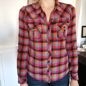Levi's Long Sleeve Flannel Blouse